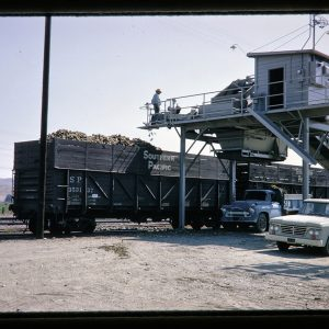 railroad car being loaded