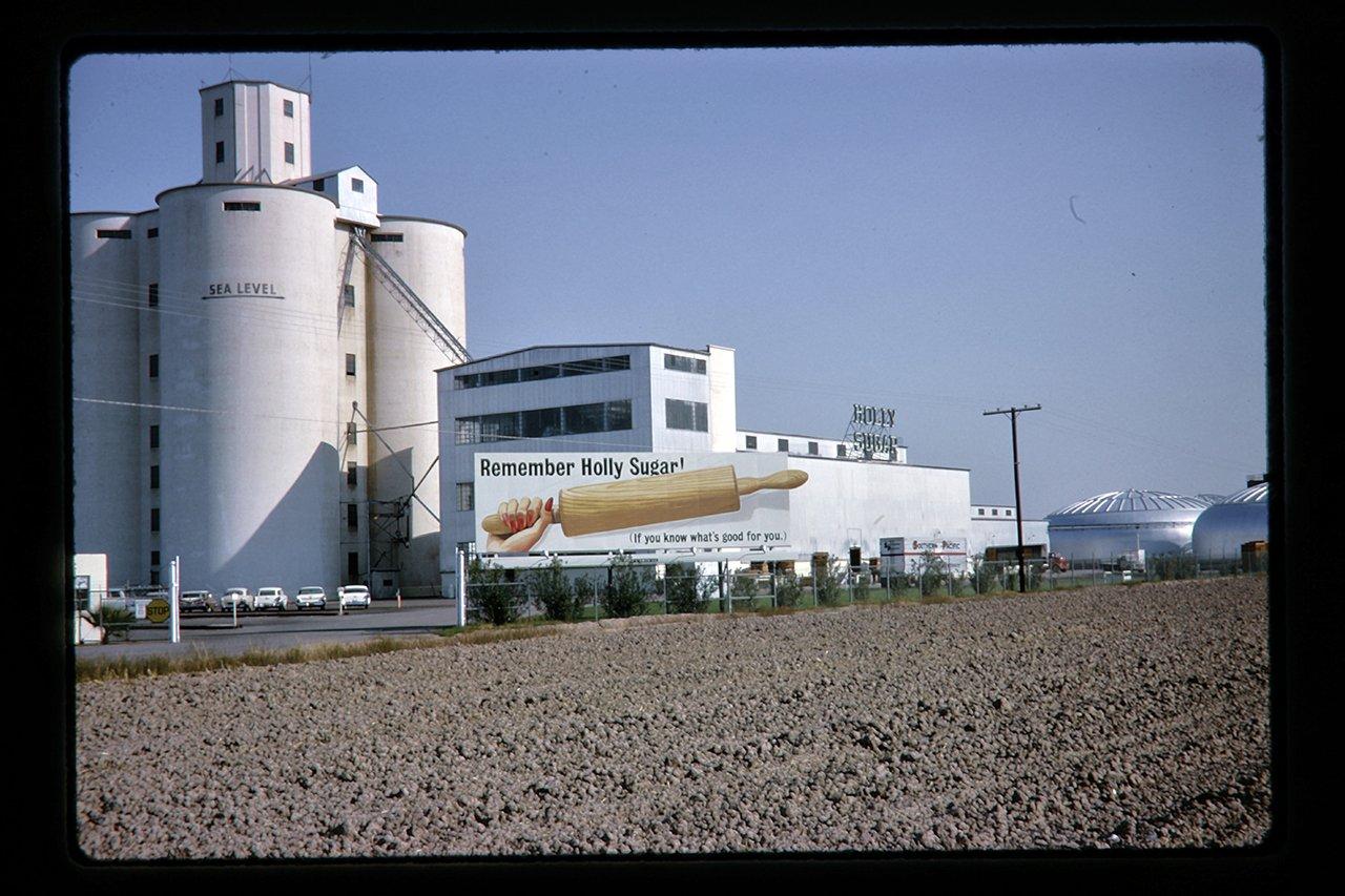 holly sugar plant and billboard