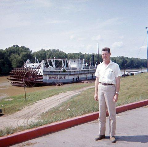 Bill at the sternwheeler
