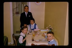kids eating at a table
