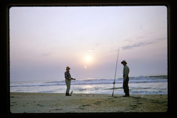fishing on beach