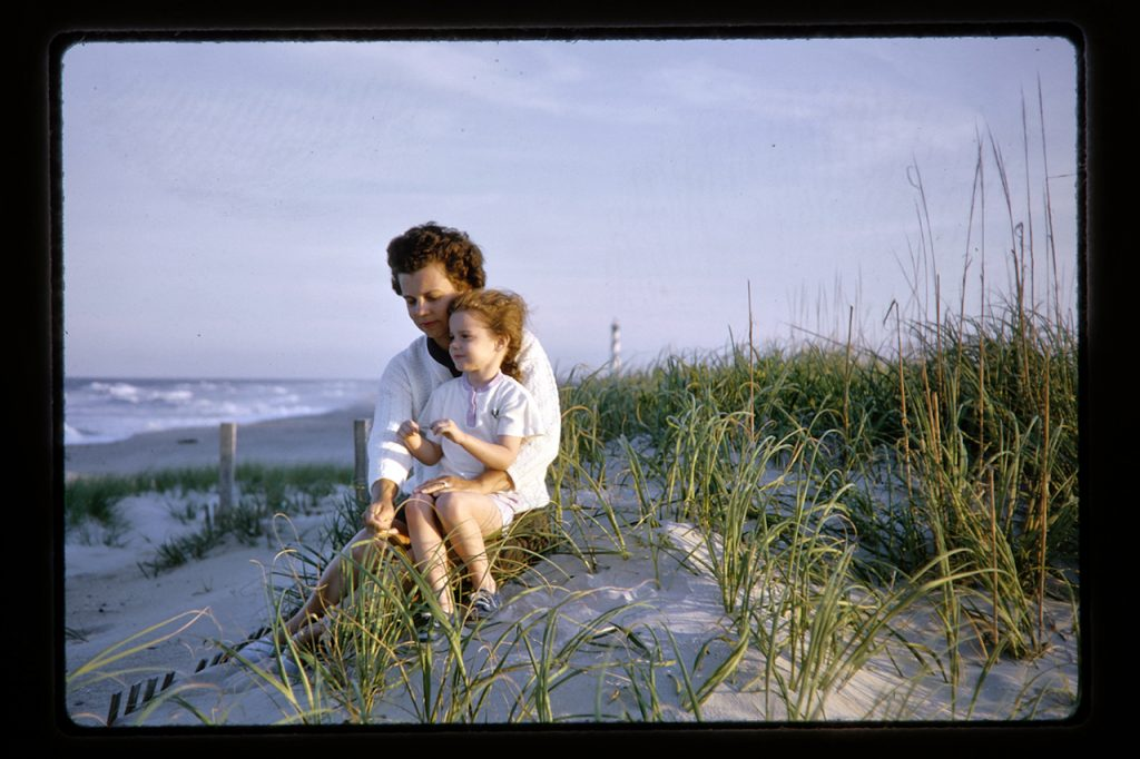 family on the dunes