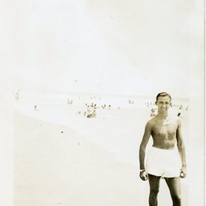 young man at a beach 1940's