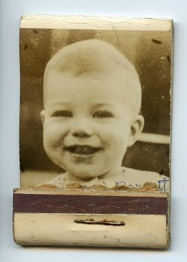 boy's photo on custom matchbook