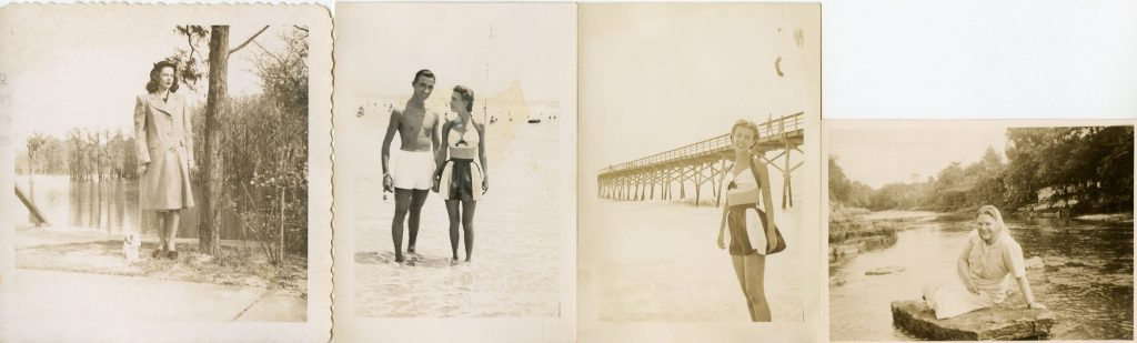 4 pictures taken by the water, 1940's