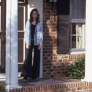girl on a front porch in 1973