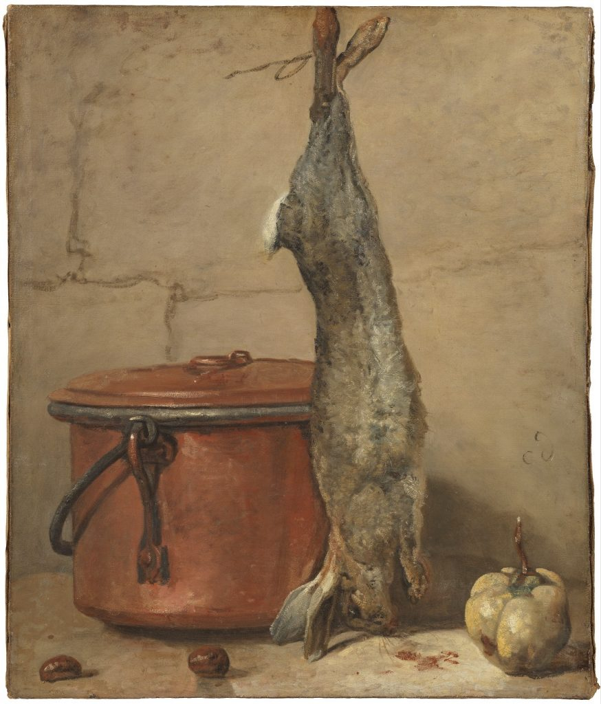 Rabbit and Copper Pot painting by Jean Siméon Chardin