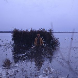 Walter Brand Leaving Duck Blind 12-29-70