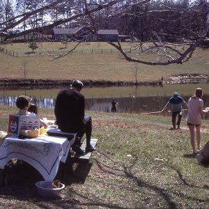 4-11-71 picnic by a lake