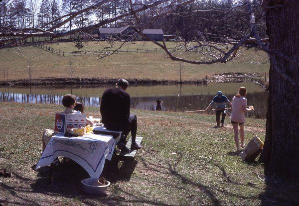 4-11-71 picnic by a lake