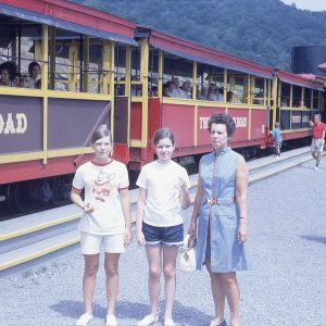 7-71 Tweetsie Railroad station and tourists