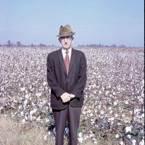 11-71 man in cotton field, Halifax County