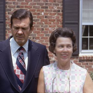 a couple, the wife is blurry, April 1972