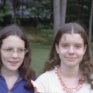 two brunette girls with center parts May 1972