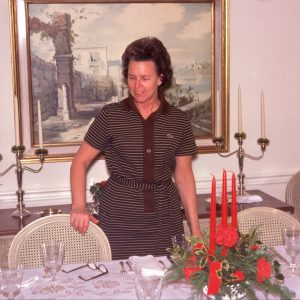 setting the dinner table 12-24-74