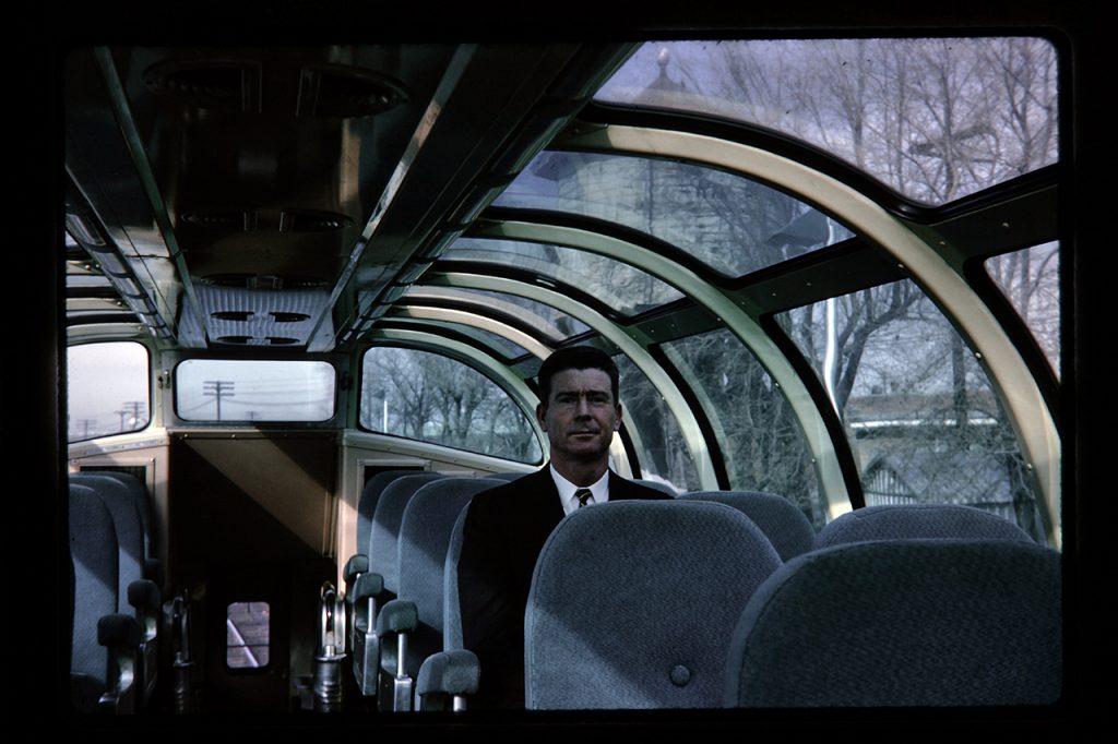 Bill in the dome car