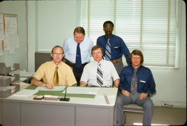 4-25-75 L-R: Carl Cross, Jim Lineberger, Al Midgett, Harvey Batchelor, Orson Hall