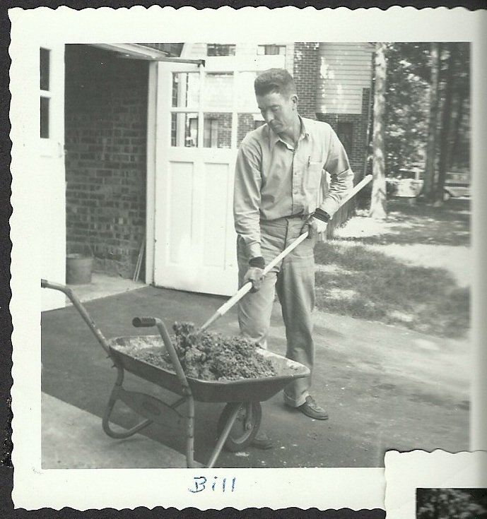 bill and a wheel barrow