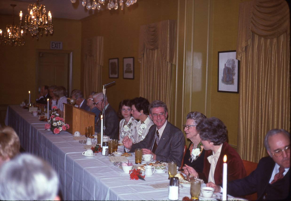 banquet head table in 1977