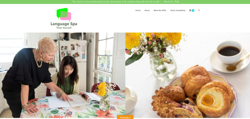 language spa home page