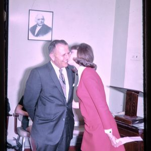 secretary kiss at an office party
