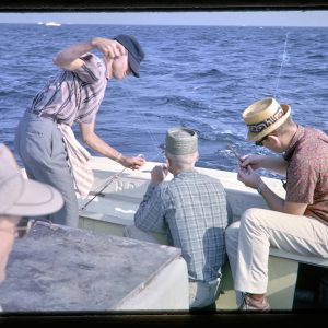 bay fishing party 1960s