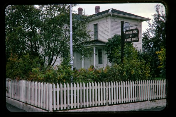 Herbert Hoover's boyhood home, The Hoover-Minthorn House Museum, Newberg, Oregon, c.1966
